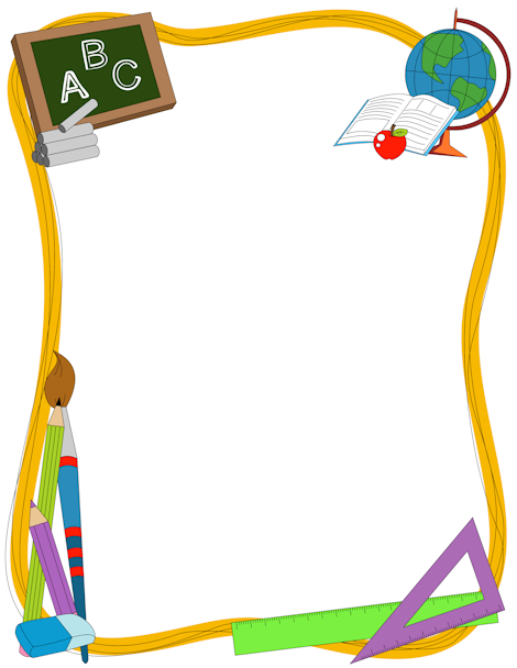 School Border  Clip Art Page Border And Vector Graphics