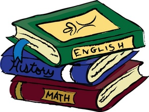 Schoolbooks Clipart Image  Text Books Or School Books Covering English