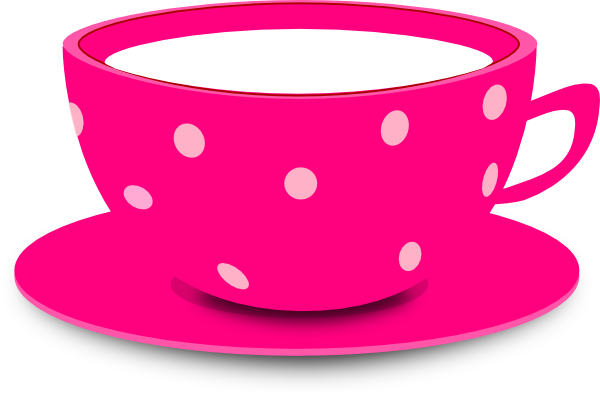 Tea Cup Pink Clip Art At Clker Com   Vector Clip Art Online Royalty