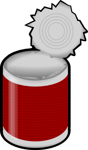 Tin Can Clip Art At Clker Com   Vector Clip Art Online Royalty Free