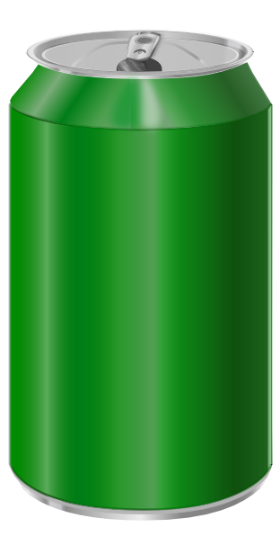 Vectorscape Green Soda Can Clip Art At Clker Com   Vector Clip Art