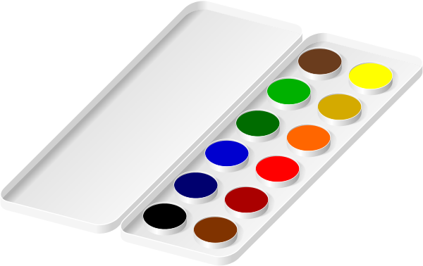 Watercolors Paint Tray