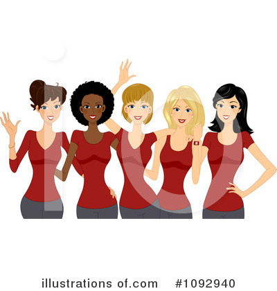 Women Clipart  1092940 By Bnp Design Studio   Royalty Free  Rf  Stock