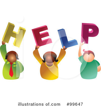 Www Illustrationsof Com 99647 Royalty Free Help Clipart Illustration
