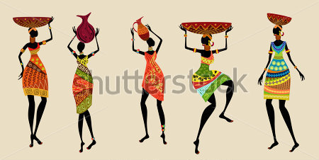African Women In Traditional Dress Clip Arts   Clipartlogo Com