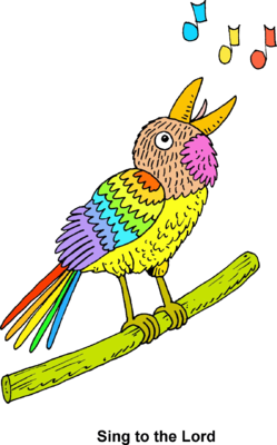 Bird Sing Clipart This Colorful Bird Is Singing To The Lord Even His