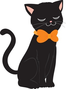 Cute Black Cat Clipart - Clipart Suggest