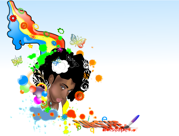 Black Woman Rainbow Clip Art At Clker Com   Vector Clip Art Online