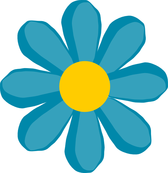 Blue Flower Clip Art At Clker Com   Vector Clip Art Online Royalty