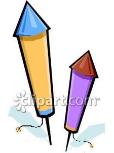Bottle Rocket Clipart Two Bottle Rockets