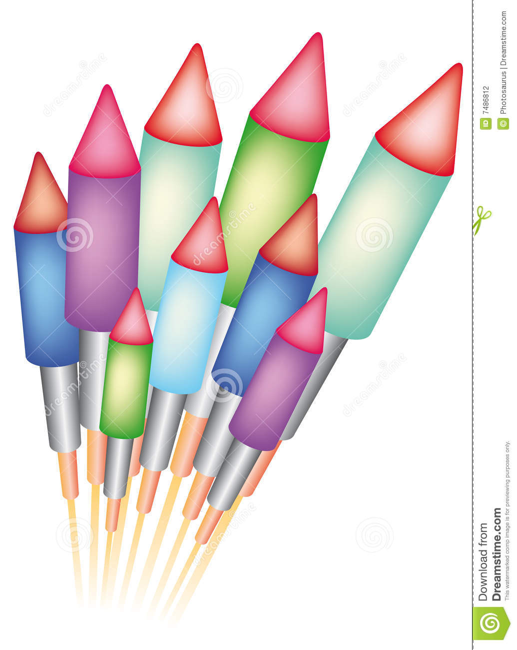 Bottle Rocket Firework Clipart Bottle Rockets For Celebrating