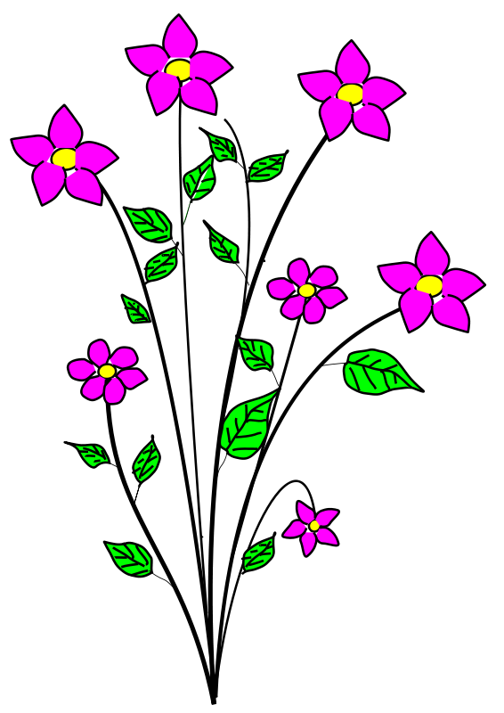 Bunch Flower Clipart Pictures Png 252 42 Kb Flowers Flower Clipart