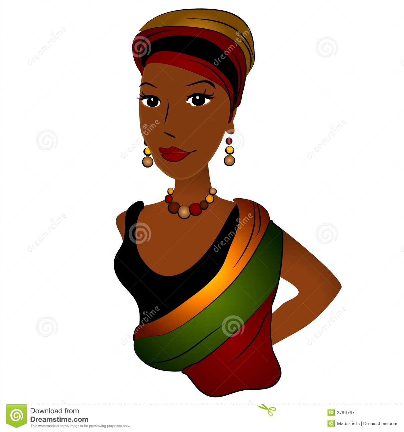 Cartoon African American Women Clipart   Free Clipart