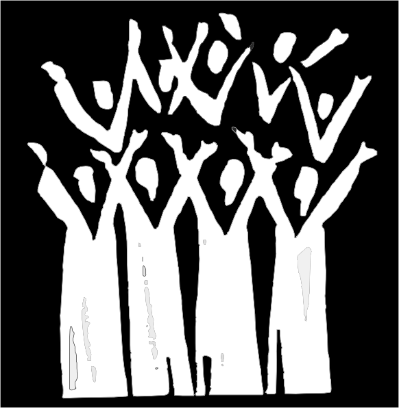 Choir In Black And White Clip Art At Clker Com   Vector Clip Art