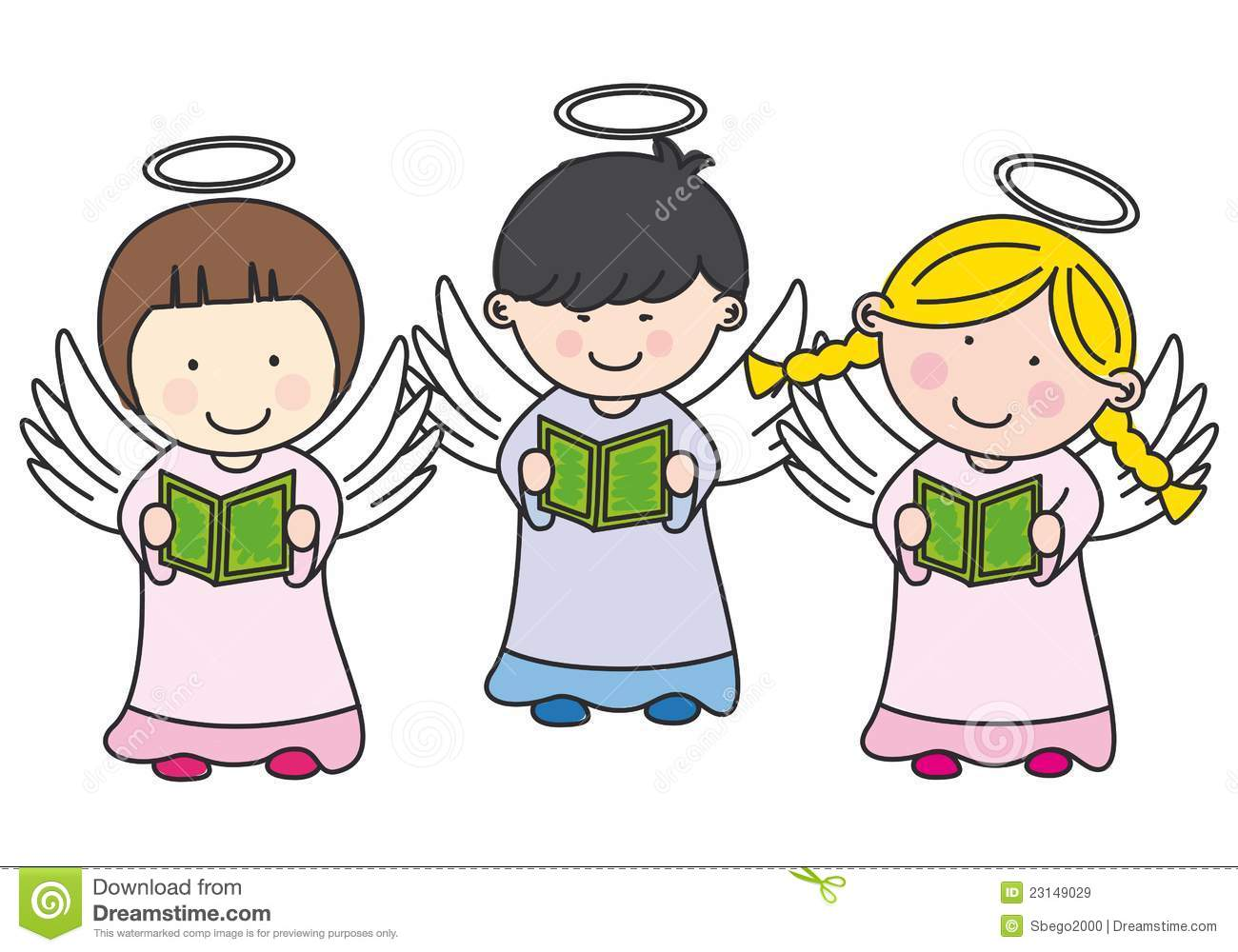 Singing Christmas Angels Clipart - Clipart Kid