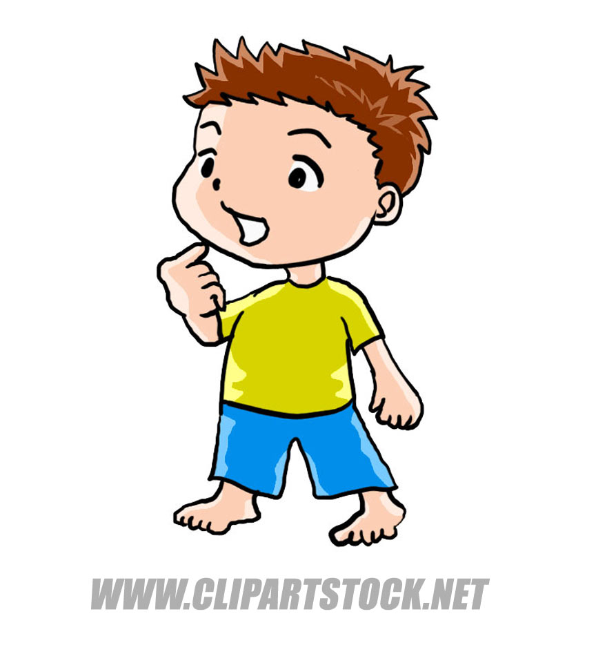 Color Boy Picture Image  People Clip Art In Comic Cartoon Style