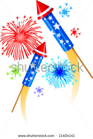 Firework Rocket Clipart Fireworks And Bottle Rockets