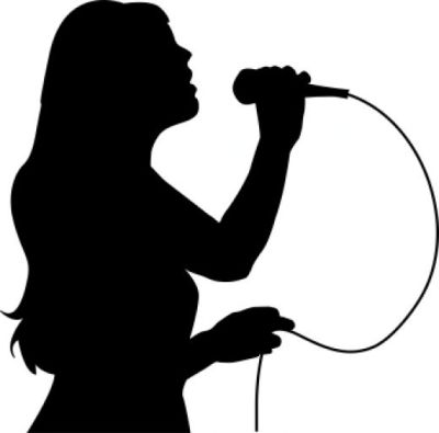 Female Singer Black And White Clipart - Clipart Suggest