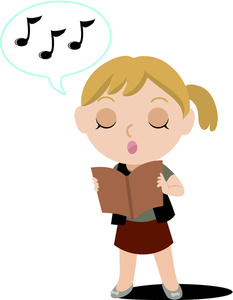 Girl Singing Clipart - Clipart Kid