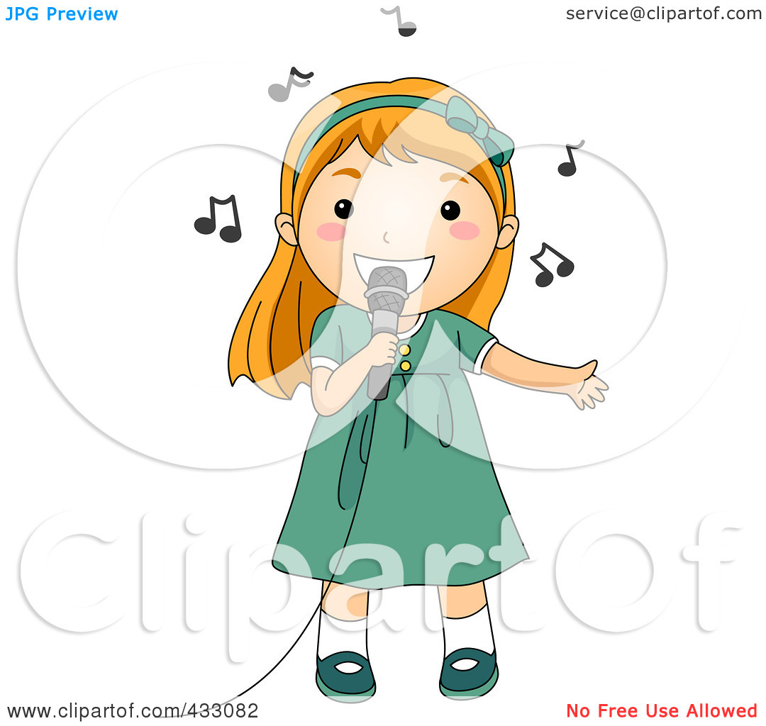 girl with microphone clipart clipart kid clipart singer clip art signing document