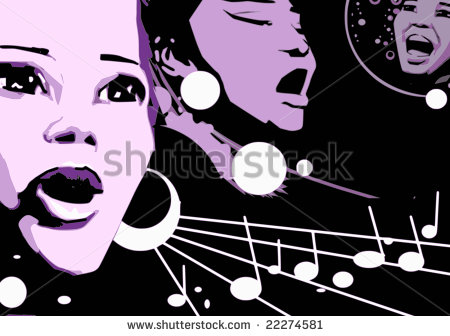 Gospel Singing Clipart Woman Singing Jazz Gospel