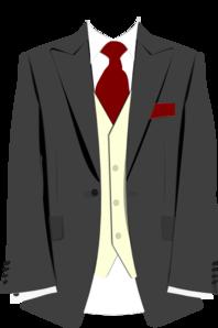 Grey Suit Burgundy Tie Clip Art At Clker Com   Vector Clip Art Online