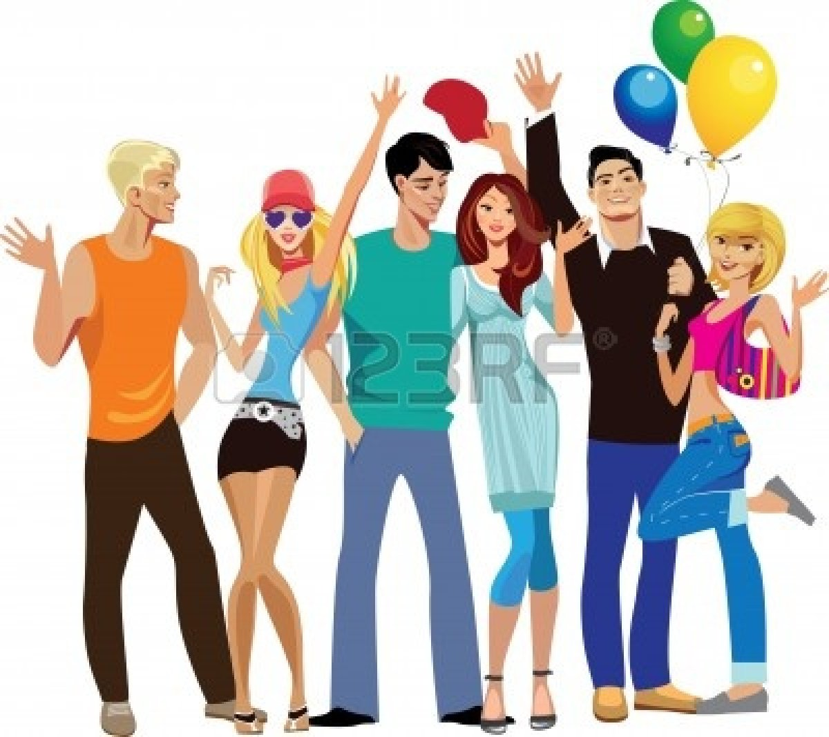 Group Of Teens Clipart - Clipart Kid
