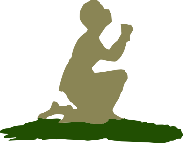 Kneeling Praying God Clip Art At Clker Com   Vector Clip Art Online