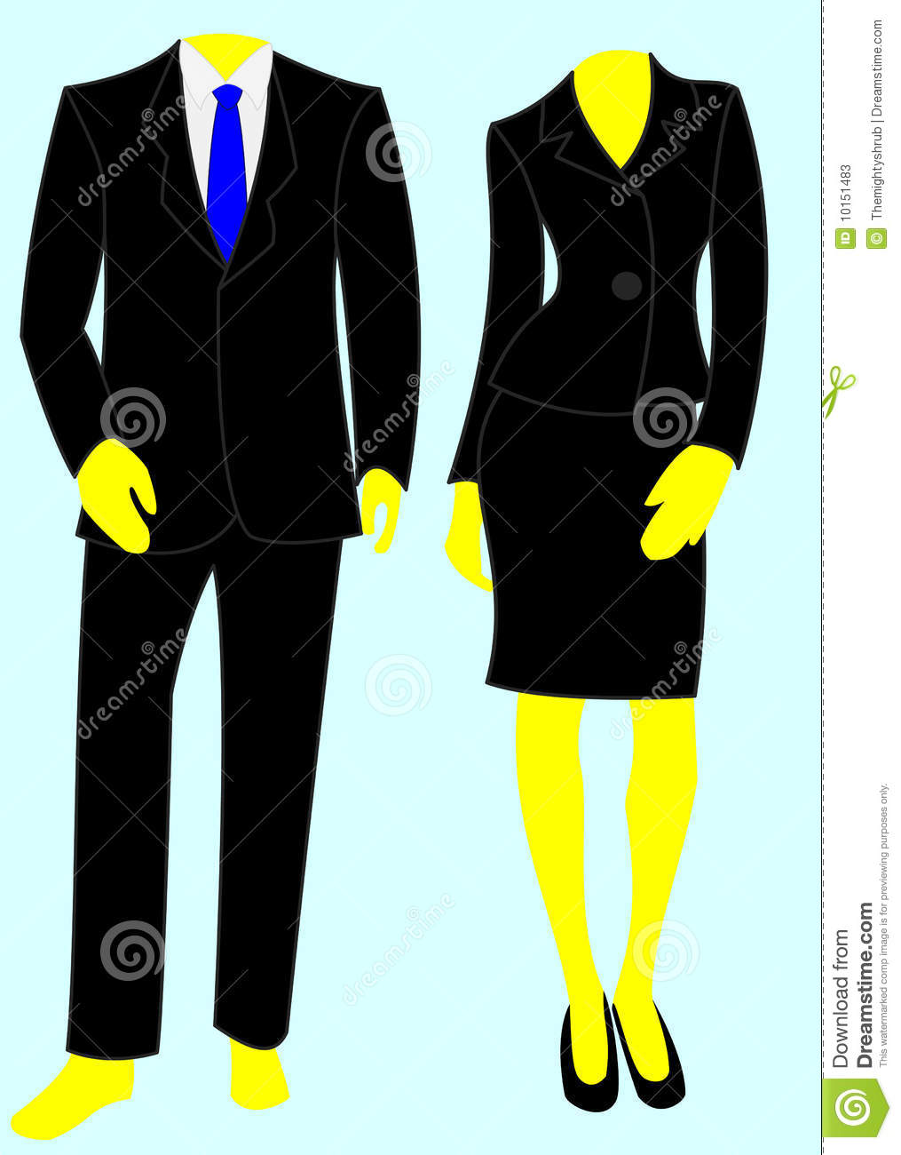 Man In Suit And Tie Clipart Two Smart Business Suits