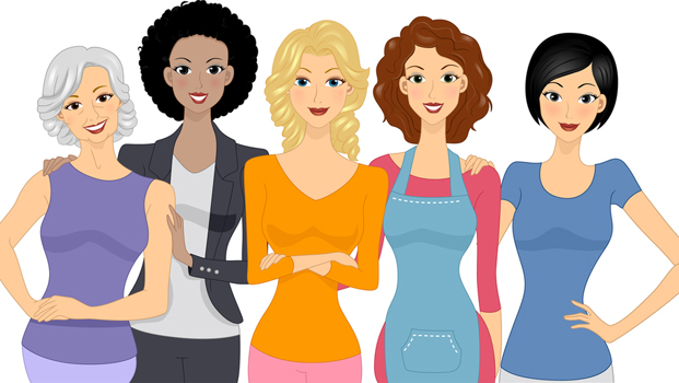 Group Of Ladies Clipart - Clipart Suggest