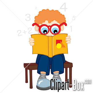 Related School Boy Reading Book Cliparts