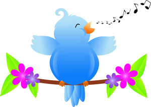 Songbird Clipart Image   Happy Little Bluebird Singing Its Song In The