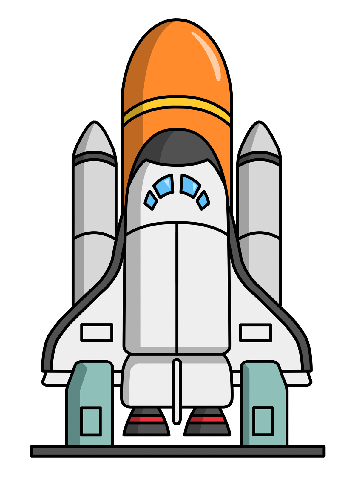 Space Shuttle Clip Art   Images   Free For Commercial Use