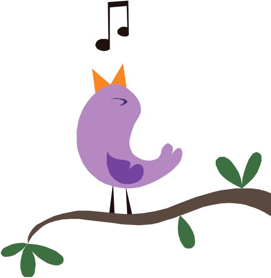 Bird Singing Clipart - Clipart Kid