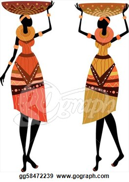 Vector Art   Native African Women  Clipart Drawing Gg58472239