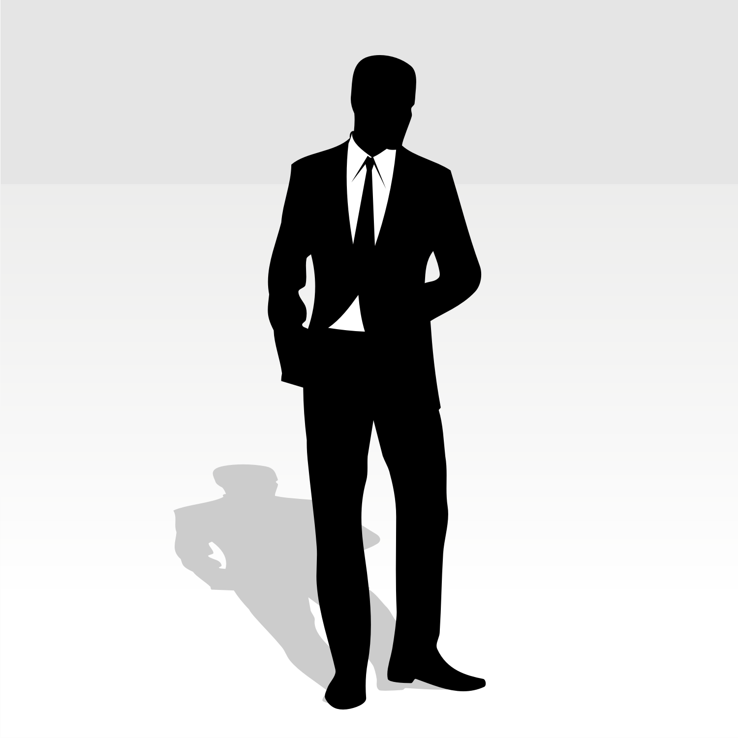 Vector For Free Use  Man In Business Suit