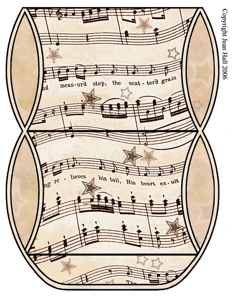 Vintage Sheet Music  Set 003   Vintage Sheet Music Free Clipart