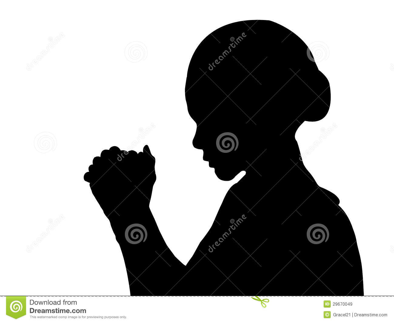 Woman Praying Clipart Woman Praying Isolated On