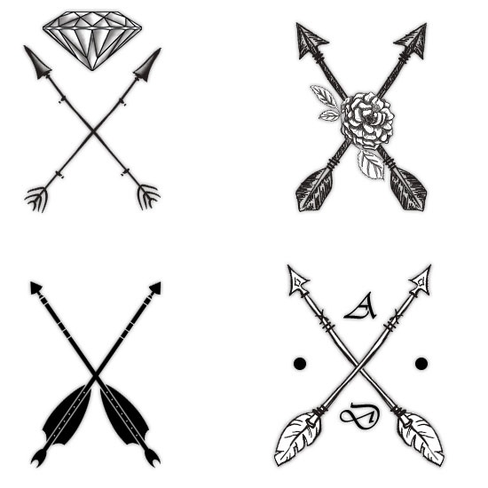 tattoo arrows clipart clipart suggest. Black Bedroom Furniture Sets. Home Design Ideas