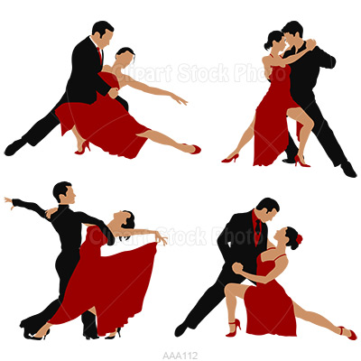 Ballroom Dance Silhouette Graphic Royalty Free Waltz Dancers Figures