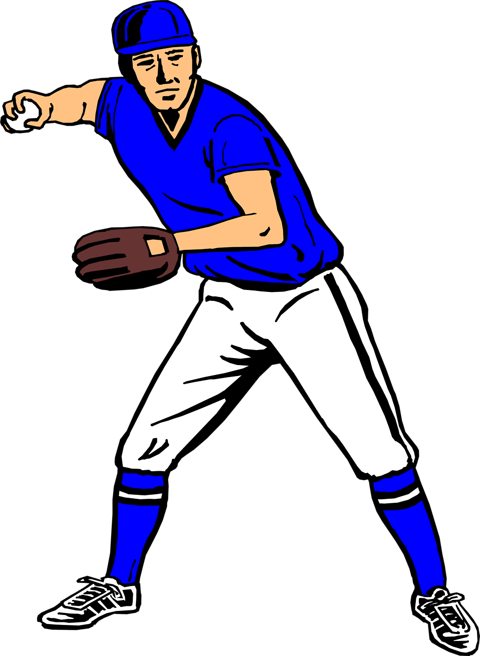Baseball Player Clipart - Clipart Suggest