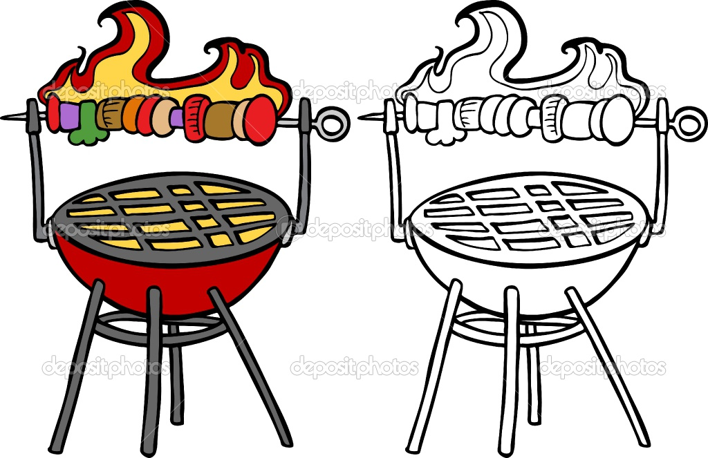 Bbq Grill With Fire Clipart Charcoal Clipart Barbecue Grill Clip Art