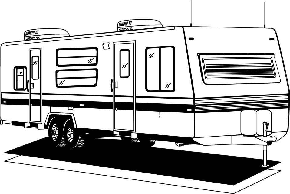 Camper   Free Stock Photo   Illustration Of An Rv Trailer     9702