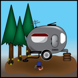 Camping Clip Art Images Camping Stock Photos   Clipart Camping