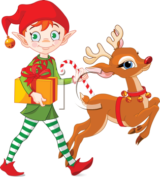 Vintage Christmas Reindeer Clipart - Clipart Kid