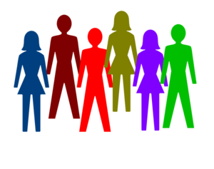 Colorful Group Of People Clip Art At Clker Com   Vector Clip Art