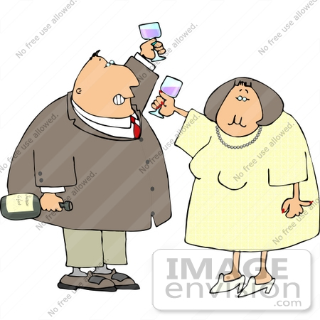 Couple Drinking Wine Clipart    14932 By Djart   Royalty Free Stock