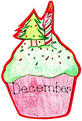 December Birthday Cupcake