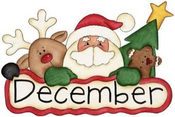 December Word Clipart Pictures