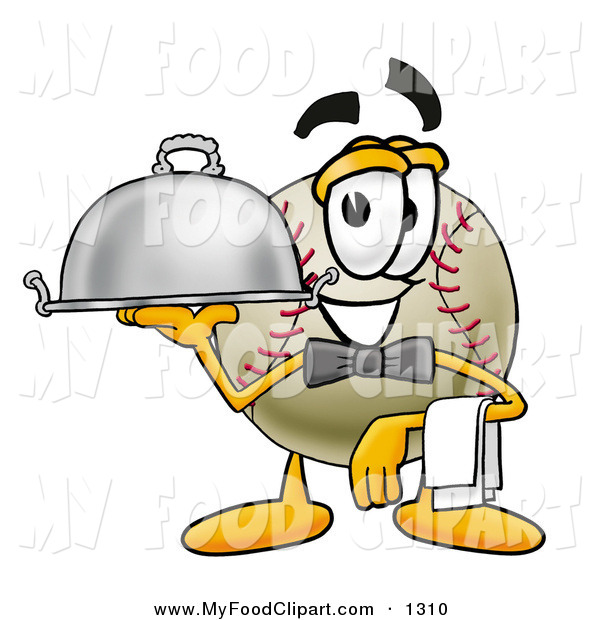 Food Clip Art Of A Grinning Baseball Mascot Cartoon Character Dressed